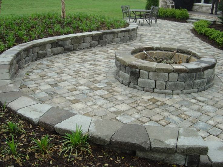 brick patio designs with fire pit paver patio firepit with a twist question landscaping lawn care - Patio Block Ideas