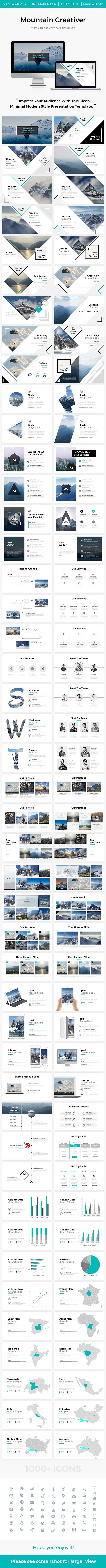 Mountain 2.0 Creativer Powerpoint Template - Creative PowerPoint Templates