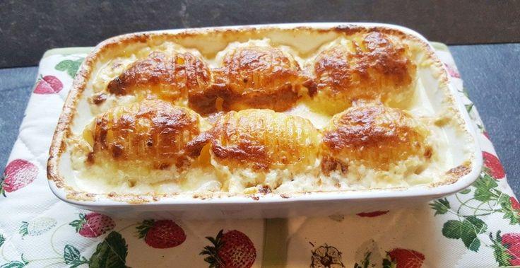gebackene Schwedische Kartoffeln: einfaches Rezept