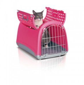 Linus Cabrio Cat Carrier Basket  Pink  50 x 32 x 35cm 20 x 125 x 14 -- Details can be found by clicking on the image. (This is an affiliate link) #CatCagesCarriersandStrollers