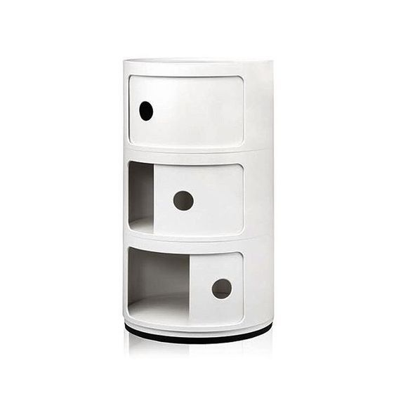 The Componibili storage system was designed by Italian designer and architect Anna Castelli Ferrieri in 1969, and been made by Kartell ever since.