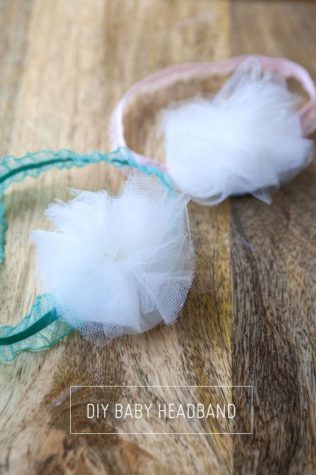 Learn how to make these cute and simple tulle baby headbands in less than 10 minutes!