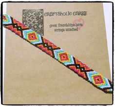 Woven Friendship Bracelet  #60266 by CraftaholicCarrie on Etsy