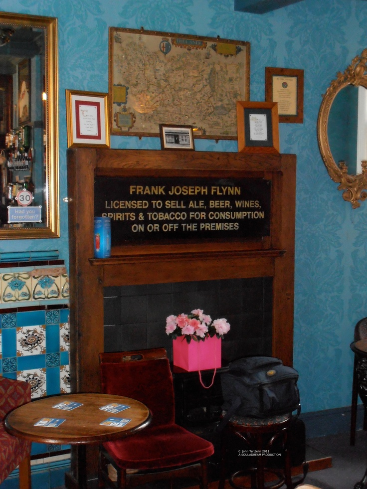 The Snug with a memorial to Frank Flynn.