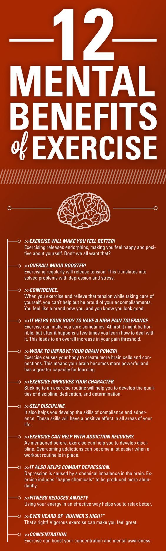 Twelve Mental Health Benefits of Exercise