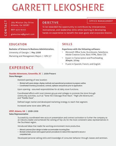7 best Resume design images on Pinterest Resume, Resume examples