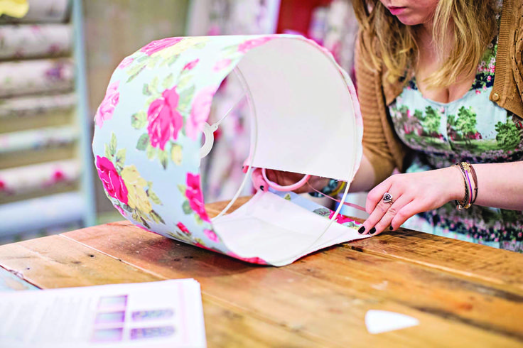 Make your own stylish lampshade kit from Needcraft