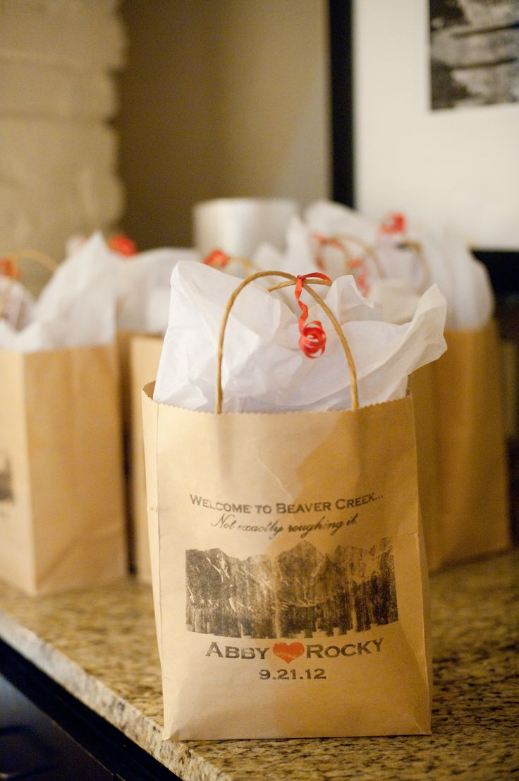 Your wedding bags for a grand getaway today s destination wedding - Wedding Guest Welcome Bags Colorado Inspiration