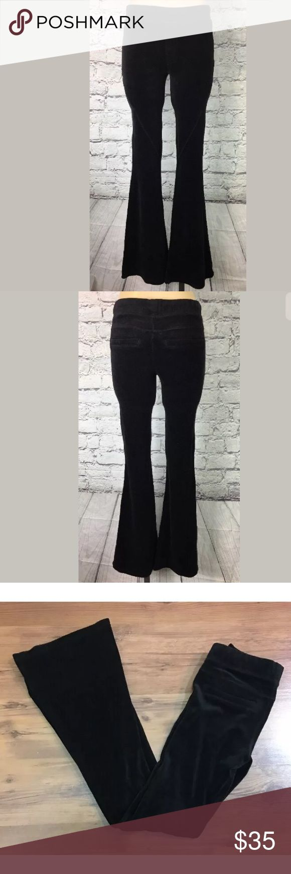 NWT Pam & Gela skinny velvet flare pants boho NWT Pam & Gela  Black Skinny Flare Crushed Velvet Pants  Sz Petite  Clean ready to ship  Measurements in photos  If you have any questions please ask pam & gela Pants Skinny