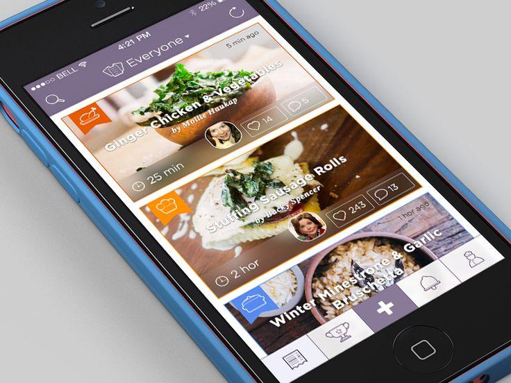 iCook App #ui #ux #ipad #ios #design