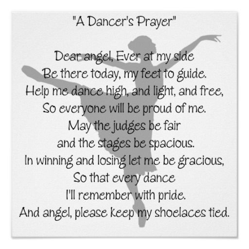 A Dancers Prayer Dance Poster