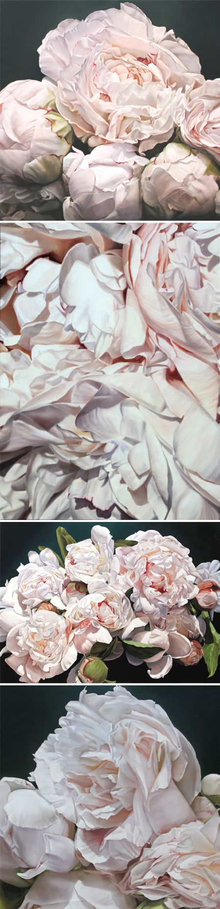 peony paintings } by thomas darnell ps. they're HUGE! IDEA: RE-CREATE USING FABRICS/ SILK.