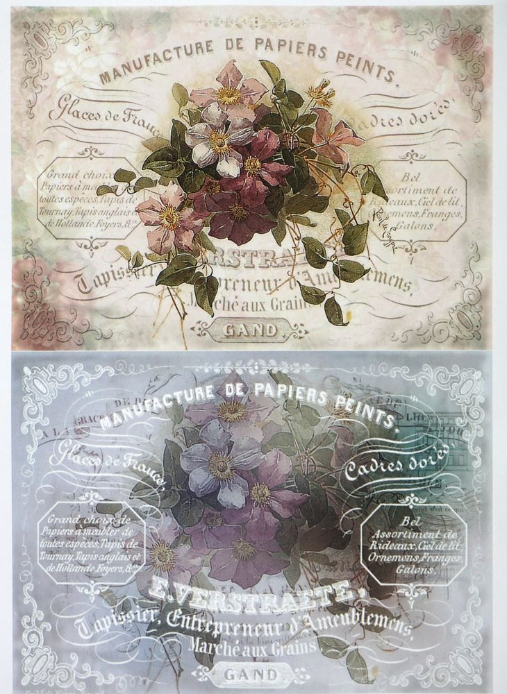 A/4 Classic Decoupage Paper Scrapbook Sheet Vintage Flower Bouqets