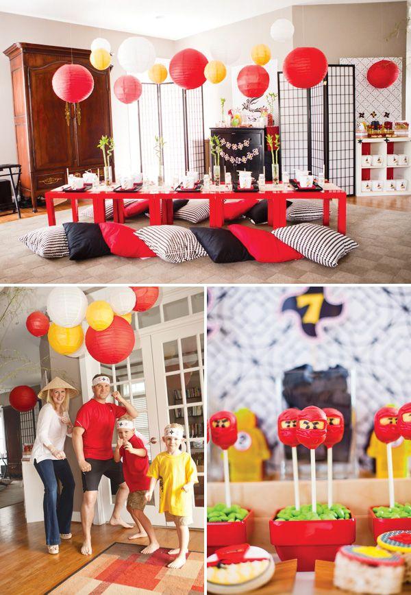 {Modern Ninjago Style} Ninja Birthday Party Ideas
