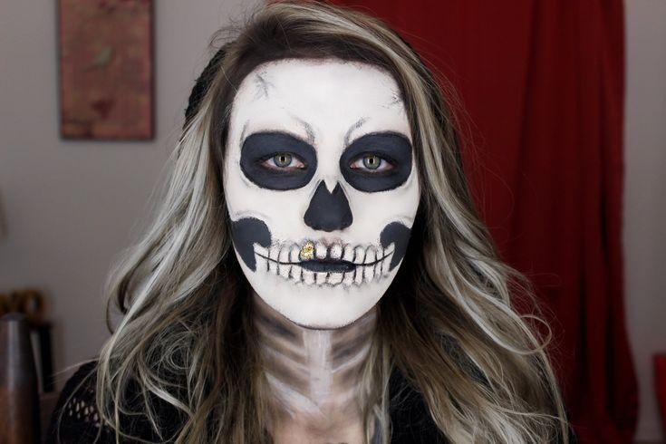 Easy Skeleton Makeup Tutorial | Halloween 2015