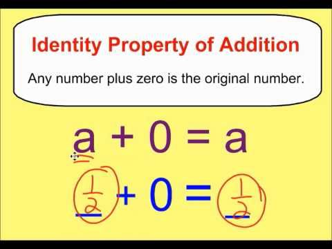 Identity Property of Addition & Multiplication - YouTube