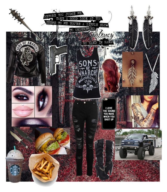 """""""Sons of Anarchy"""" by pinkcharry on Polyvore featuring Dorothy Perkins, Sons of Anarchy, SOA, Stone Paris, Rebecca Minkoff, Bellybutton, Casetify and Saints Row"""