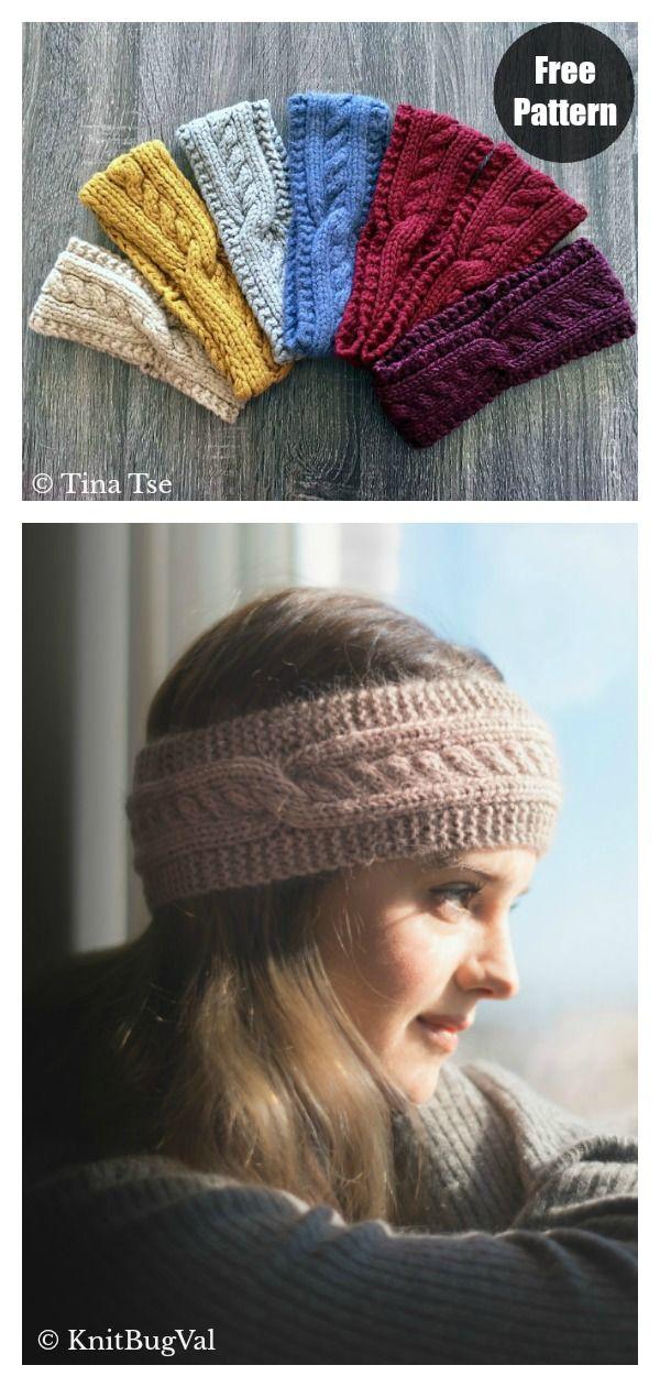 Twist Headband Free Knitting Pattern in 2020 | Knit ...