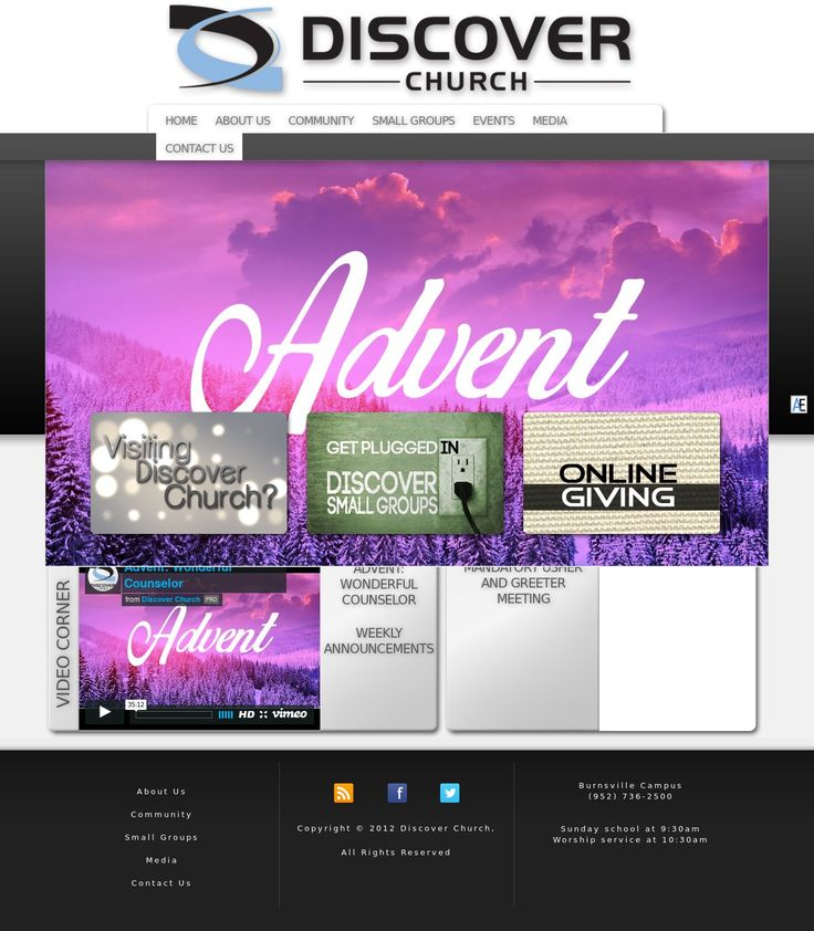 WordPress site discoveringchurch.com uses the Discover Church Theme wp theme