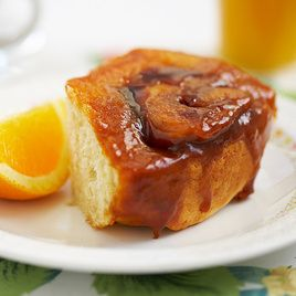 Tick Tock Orange Sticky Rolls, a nonyeast breakfast bun; ingredients list looks better than pictured