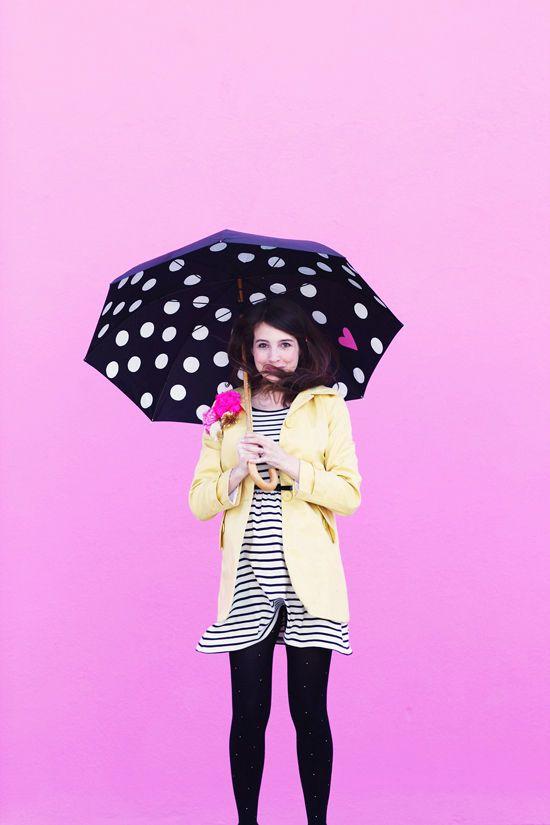 DIY Polka Dot Umbrella