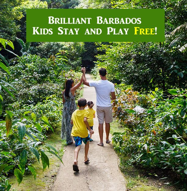 Kids stay and play free at various Barbados accommodations and attractions with the Brilliant Barbados promotion.