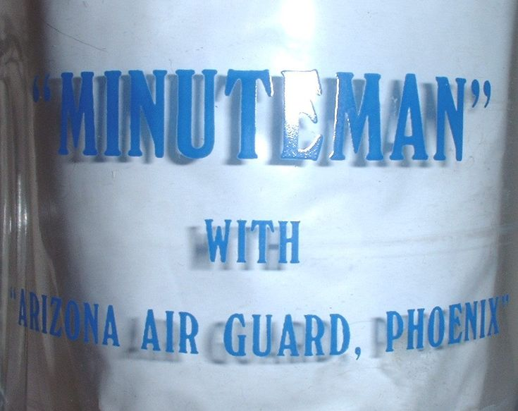 "USAF US Air Force Arizona Air National Guard ""Minuteman"" glass beer stein by Nagmashdriver on Etsy"