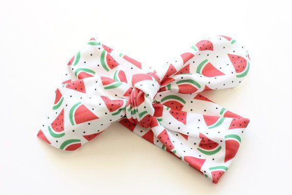 Organic Cotton Headband  Watermelon Red  Organic Cotton by raenne