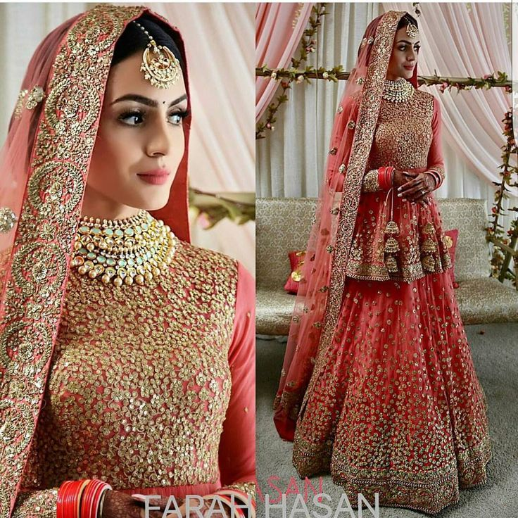 "25 Likes, 2 Comments - Wedding In Vogue (@weddinginvogue) on Instagram: ""Brides in Pakistan don't wear such bright colours on their wedding day, but how about wearing it on…"""