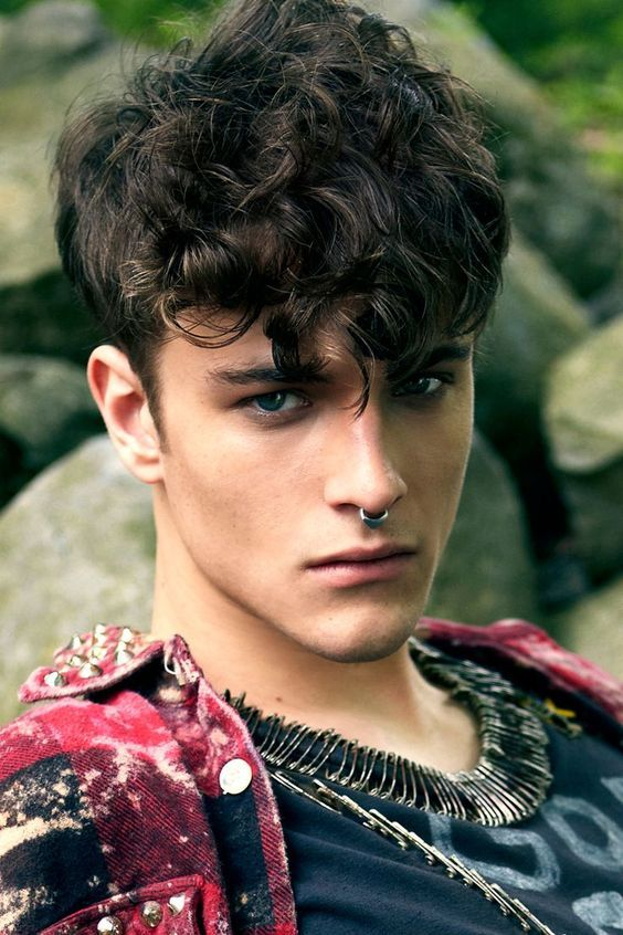 Top 5 Curly Hairstyles for Men #style #hair: