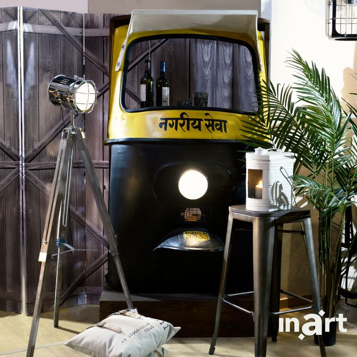 Beep-beep! Οι designers της #inart εμπνευσμένοι από βόλτες με τουκ-τουκ –τα παραδοσιακά ταϋλανδέζικα ταξί- δημιούργησαν έναν εντυπωσιακό πάγκο/μπαρ που θα μεταμορφώσει το σαλόνι σας!