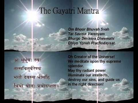 The Gayatri Mantra. Found in the Rig Veda, one of the oldest sacred texts in…