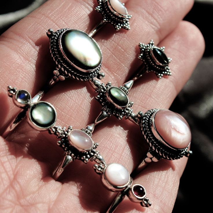 ♕♕ 50% OFF WIDOW MAKER + SELECTED LINES ♕♕ Meet our Widow Maker Queens! Including stunning Black Pearl & Pink Pearl ♕ shopdixi.com ♕ dixi // jewellery // jewelry // boho // bohemian // grunge // goth // dark // mystic // magic // witchy // sterling silver // pearl // garnet // ring