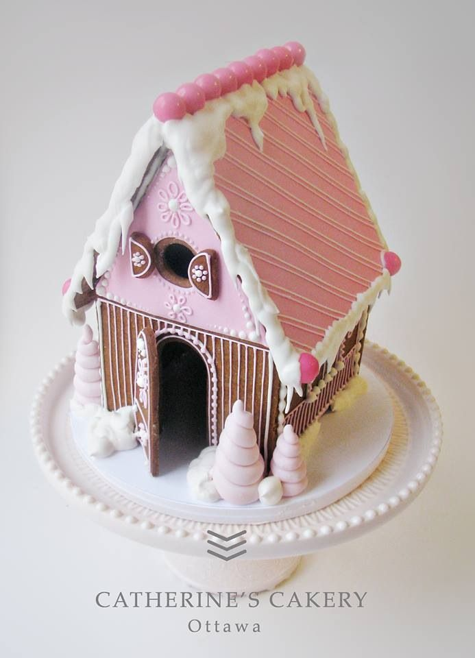 THINK PINK for Breast Cancer Awareness. Gingerbread House