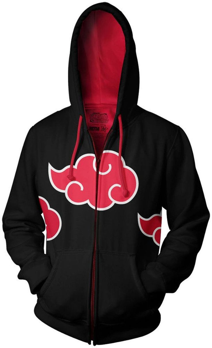 Naruto Shippuden Akatsuki Red Clouds Anime Hoodie http://otakuforanime.com/my-top-10-favourite-anime-hoodies-list/