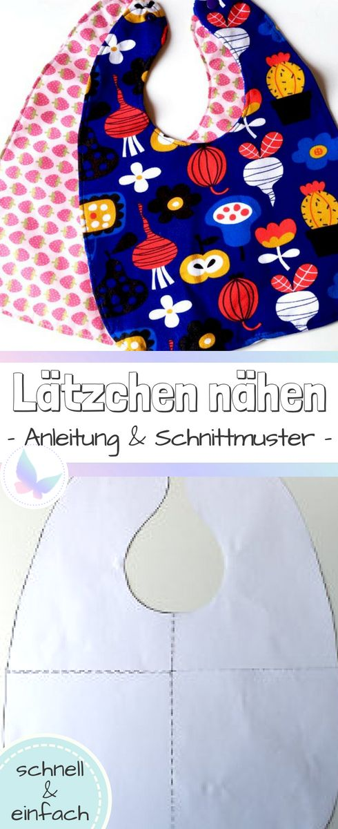 Instructions and patterns for a bib for your baby. Fast and easy …   – Faminino | Der Blog