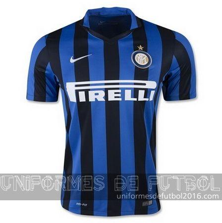 Jersey local para uniforme del Tailandia Inter Milan 2015-16  | uniformes de futbol economicos