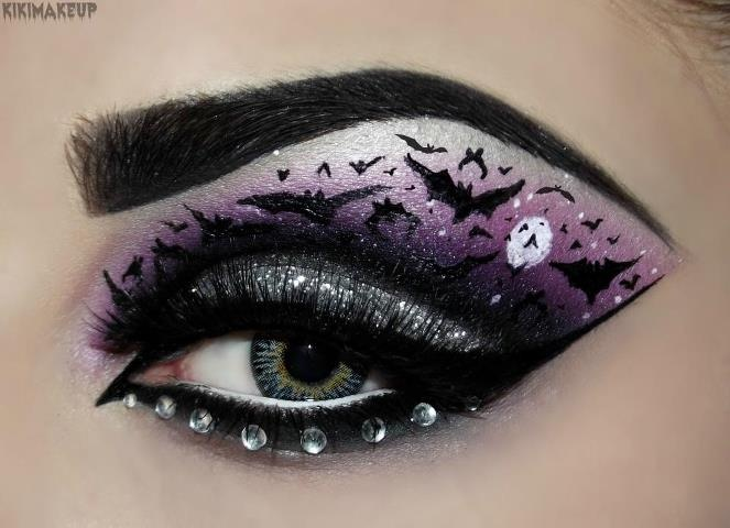 That's very creative. Suits Halloween or any horror theme party!   Makeup   Pinterest   Halloween eye makeup, Halloween Makeup and Halloween eyes
