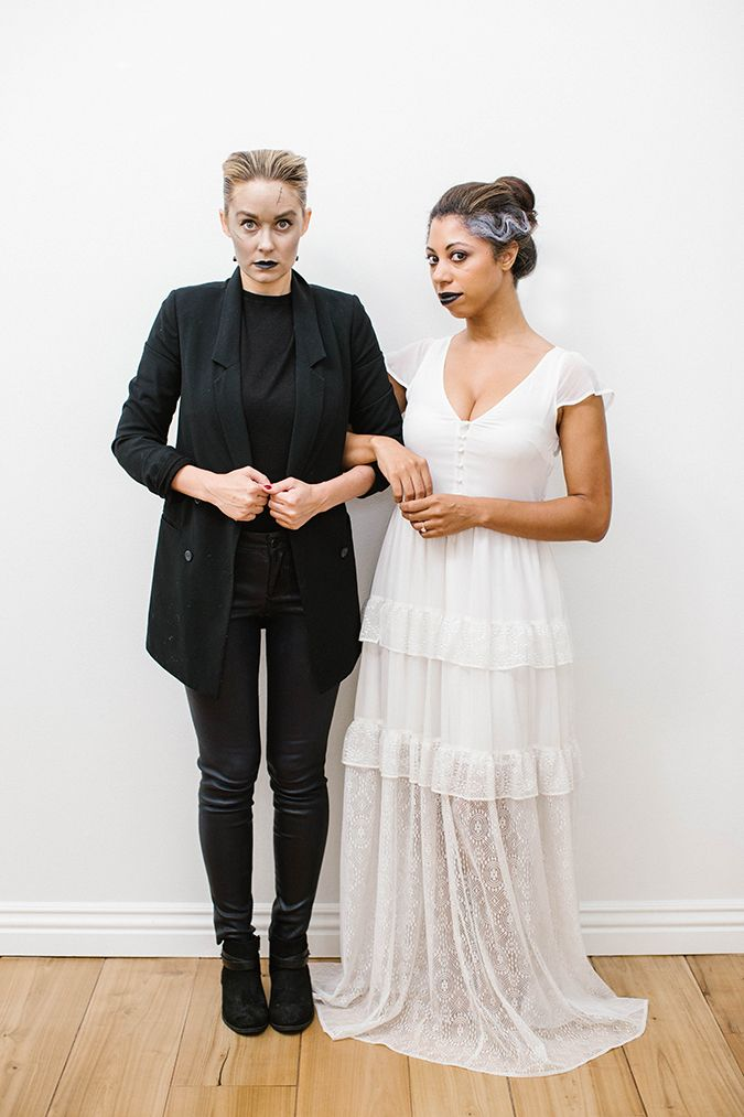 Frankenstein and Bride of Frankenstein costumes