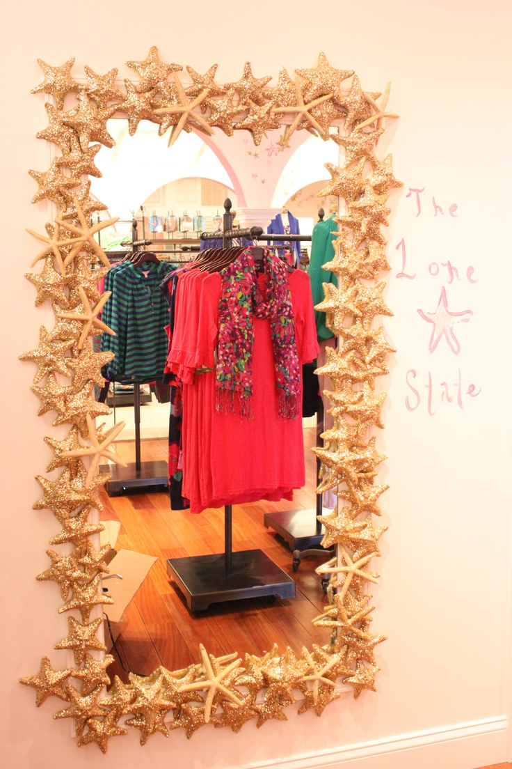 Lilly Pulitzer Retail Store: Southlake, TX  Glitter starfish for the Lone Star state!