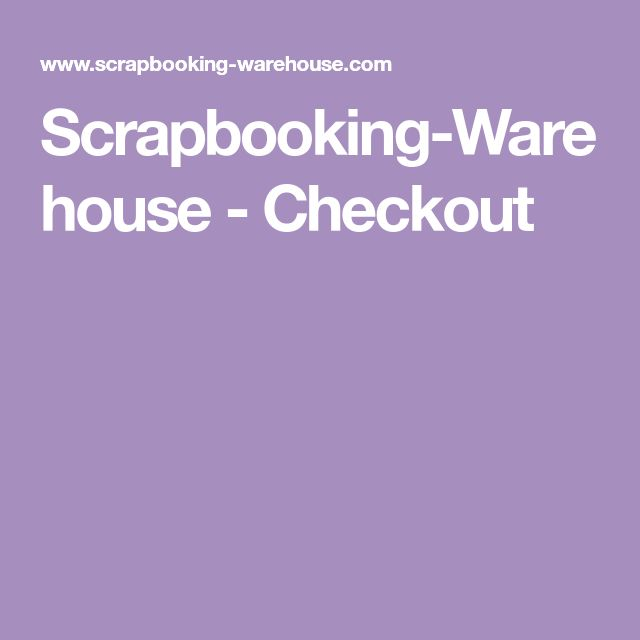 Scrapbooking-Warehouse - Checkout