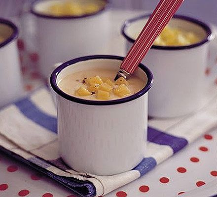 Throw a new spin on this comforting classic by blending into a smooth and creamy soup