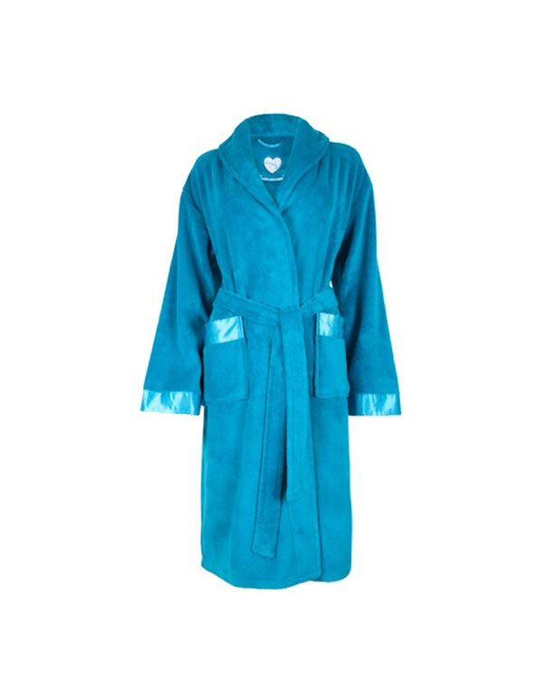 Teal Cosy Fleece Robe