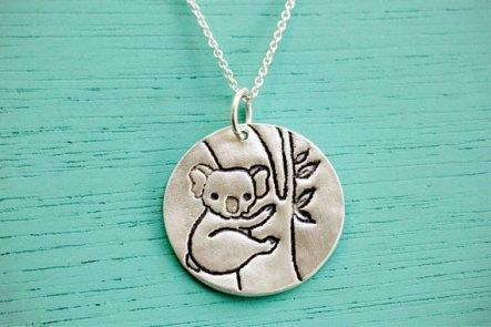 Koala necklace.