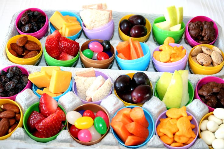 Fill Easter Eggs with healthy snacks