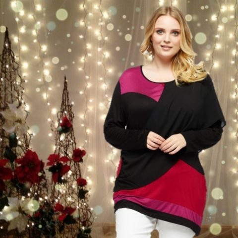 Multi Colour Top With Sash  #skaterdress #fashion #style #shopping #blackfriday #sale #christmas #party #plussize #plussizefashion