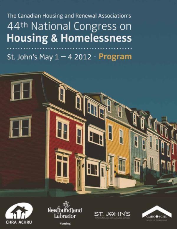 Program cover we designed for a congress in St. John's, Newfoundland #design #print