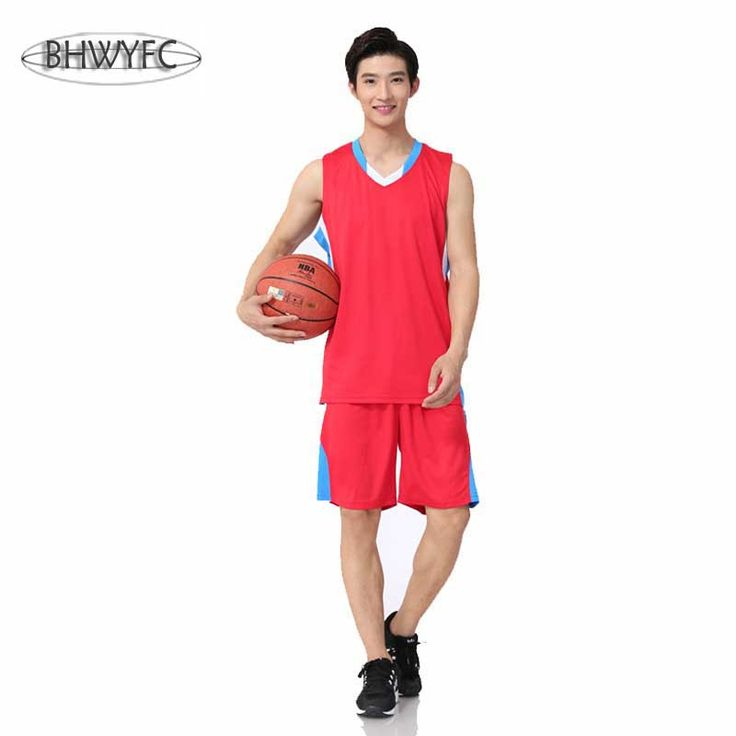 Support custom printable numbers men's sleeveless breathable basketbal jerseys training competition suits
