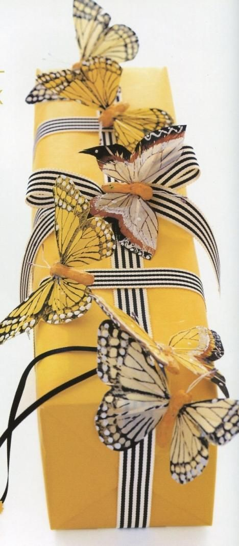 Stripes and bright yellow butterflies.  This is amazing.     Women Talk