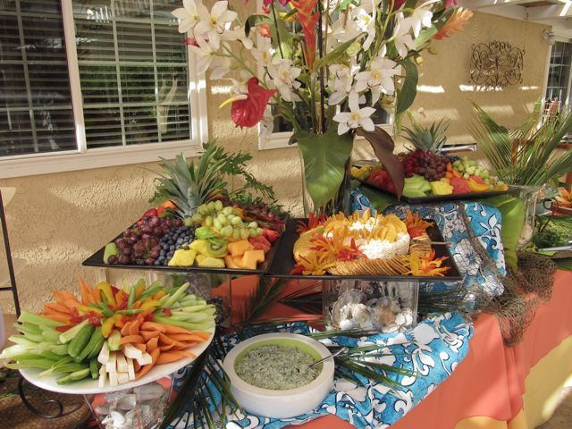 Fresh Ideas Catering Blog A 50th Anniversary Luau Tropical BackyardAnniversary IdeasWedding AnniversaryAnniversary PartiesHawaiian